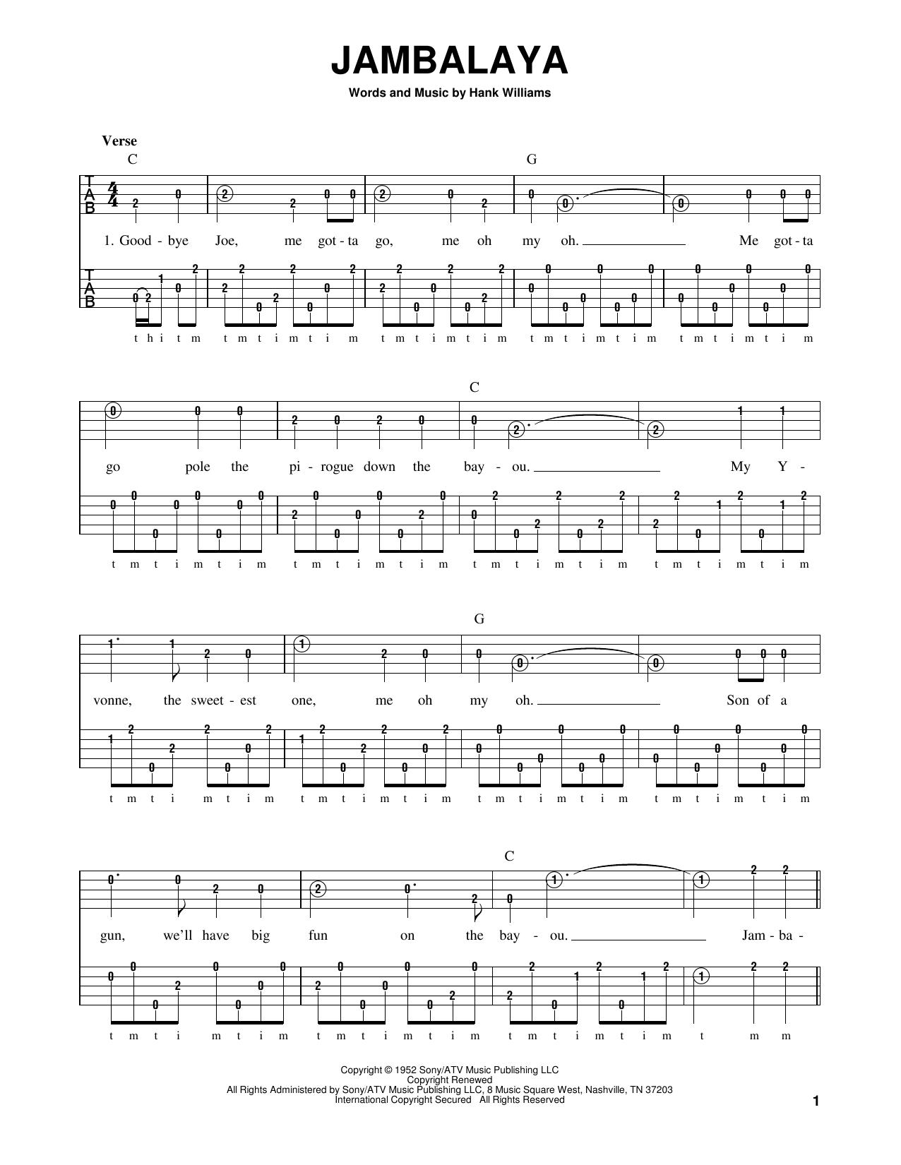 Jambalaya (On The Bayou) Sheet Music