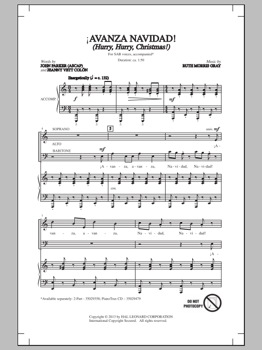 !Avana Navaidad! Sheet Music