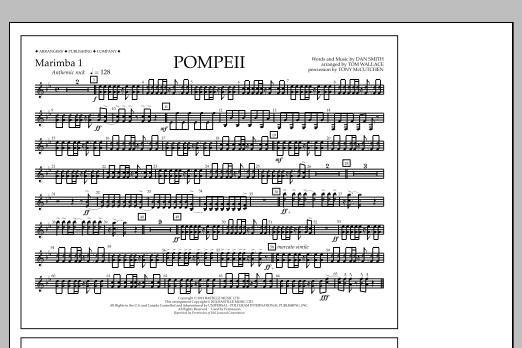 Pompeii - Marimba 1 (Marching Band)