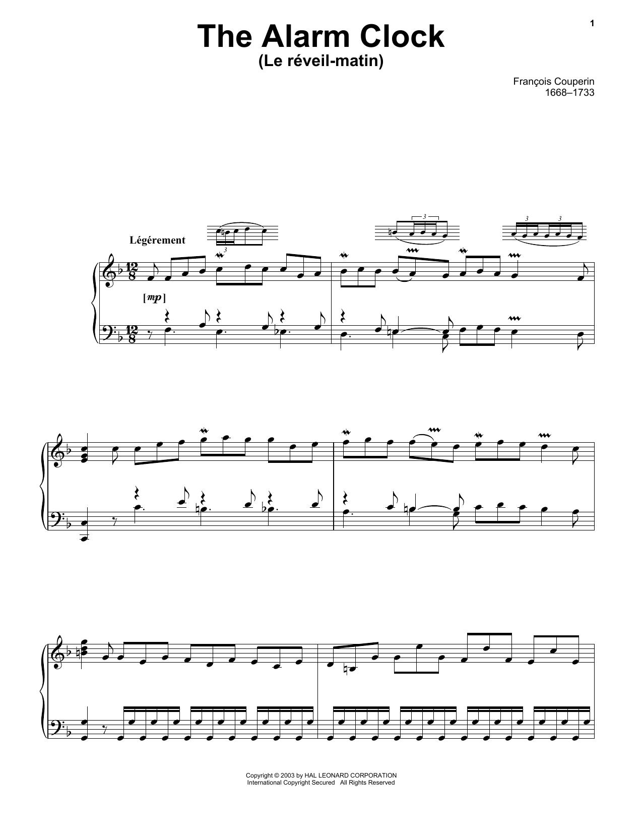 Le Reveil-Matin (The Alarm Clock) (Piano Solo)