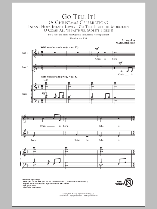 Go Tell It On The Mountain (2-Part Choir)