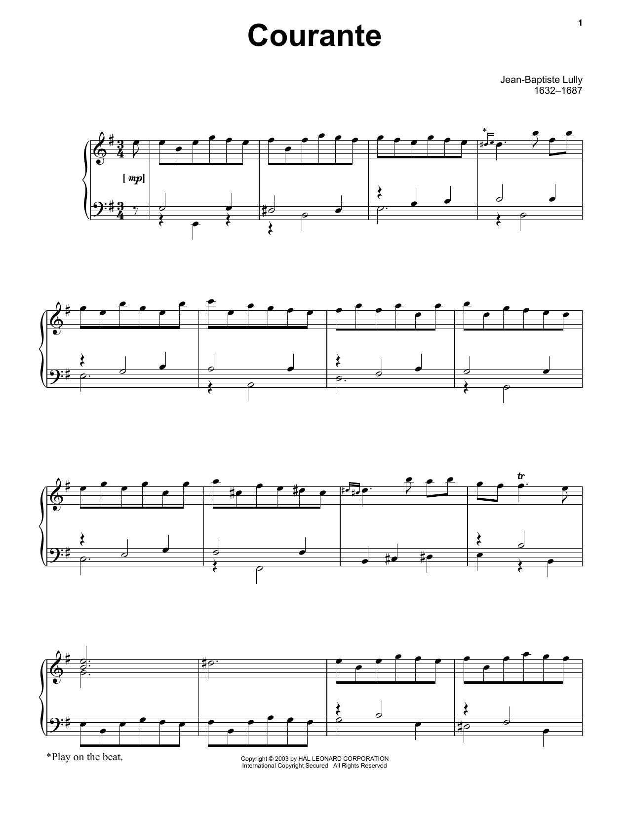Courante (Piano Solo)