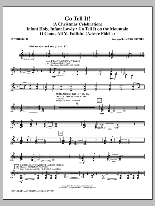 Go Tell It! (complete set of parts) sheet music for orchestra/band by Mark Brymer. Score Image Preview.