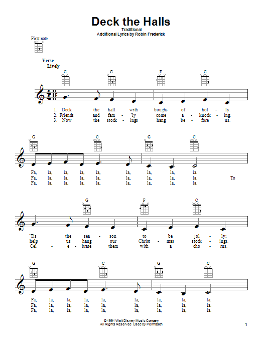 Deck The Halls Sheet Music