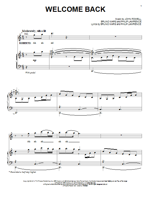 Welcome Back Sheet Music