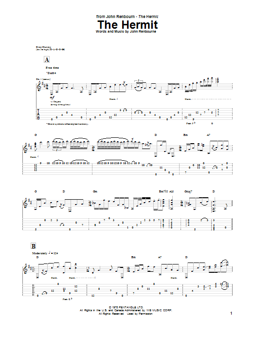 The Hermit Sheet Music