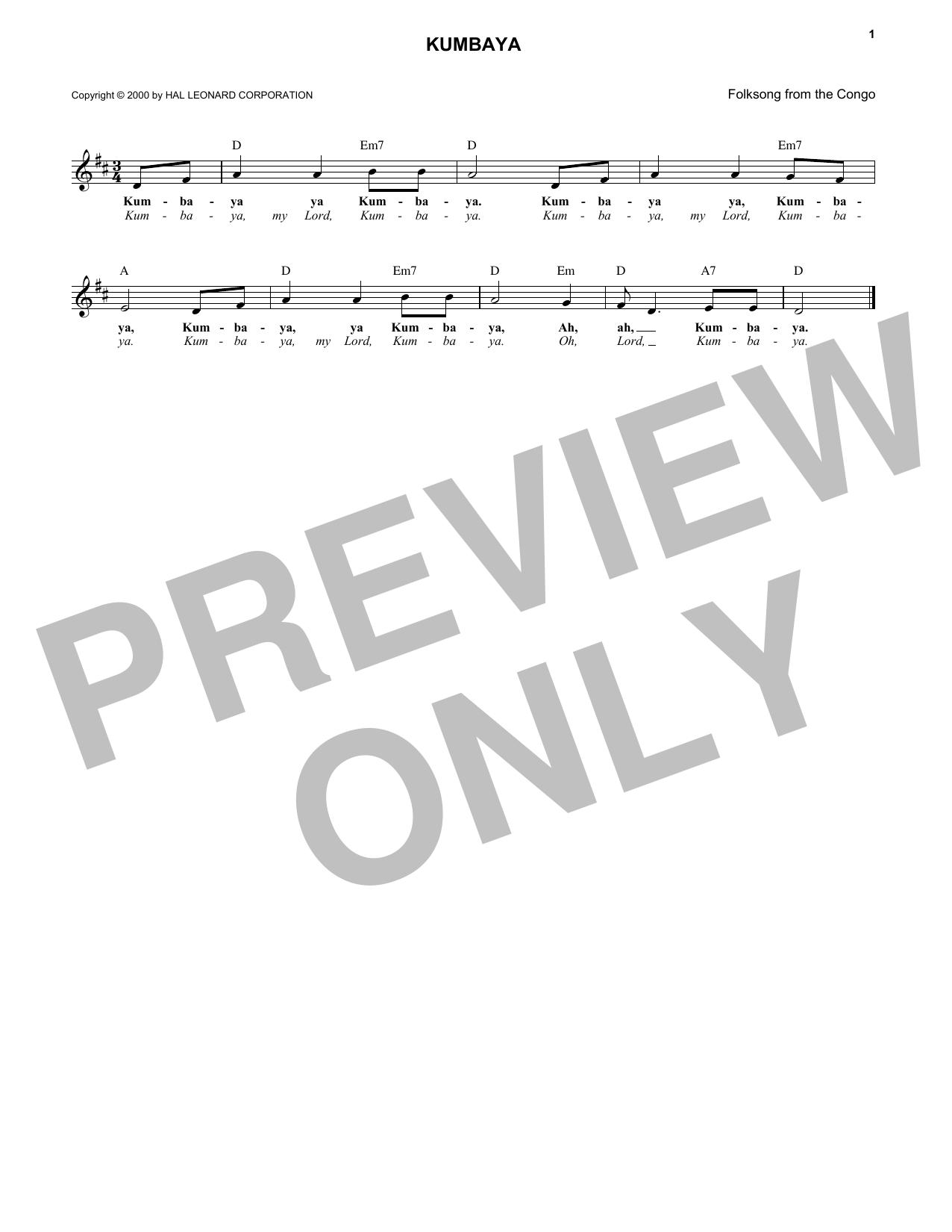 Kumbaya Sheet Music