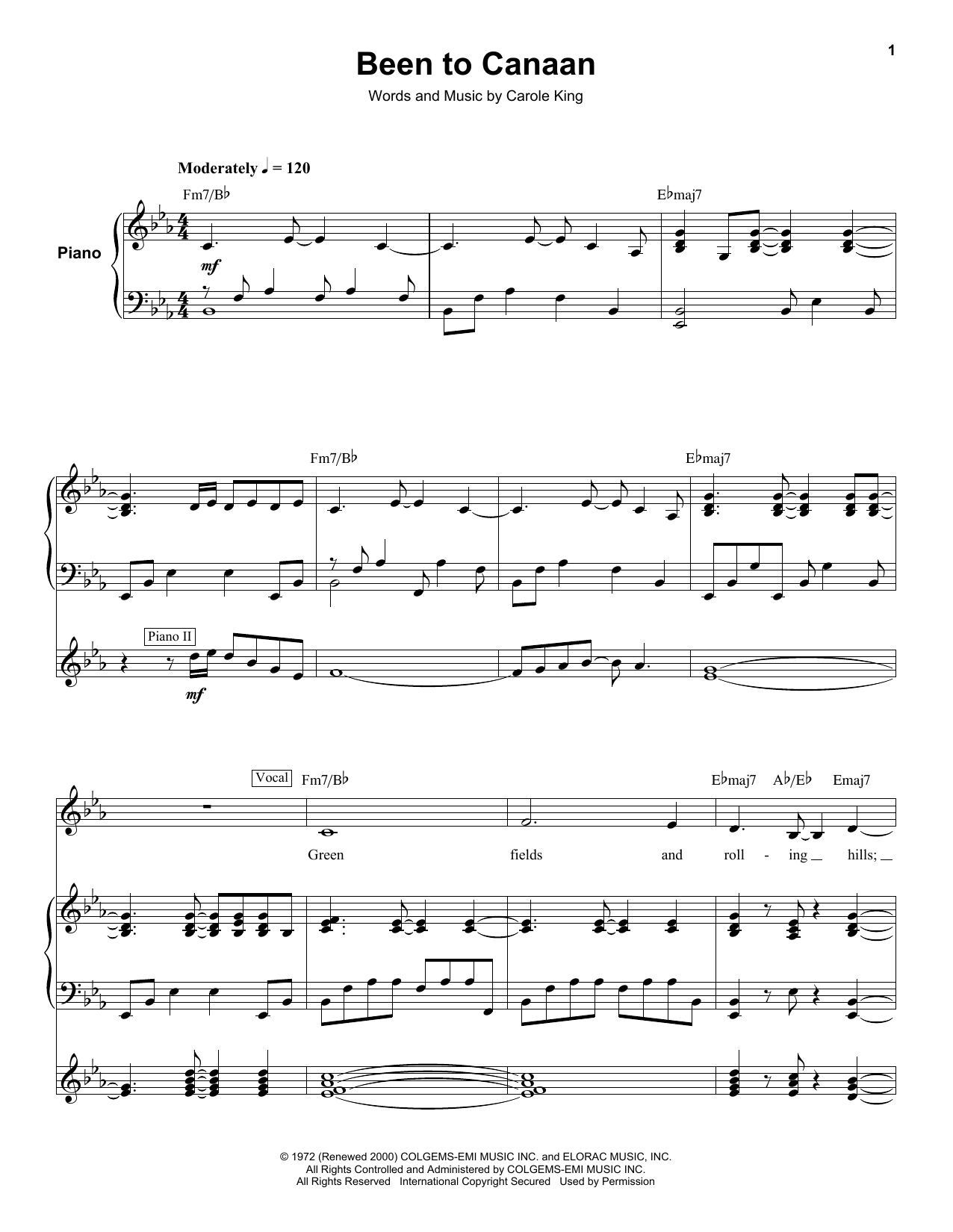 Been To Canaan (Keyboard Transcription)