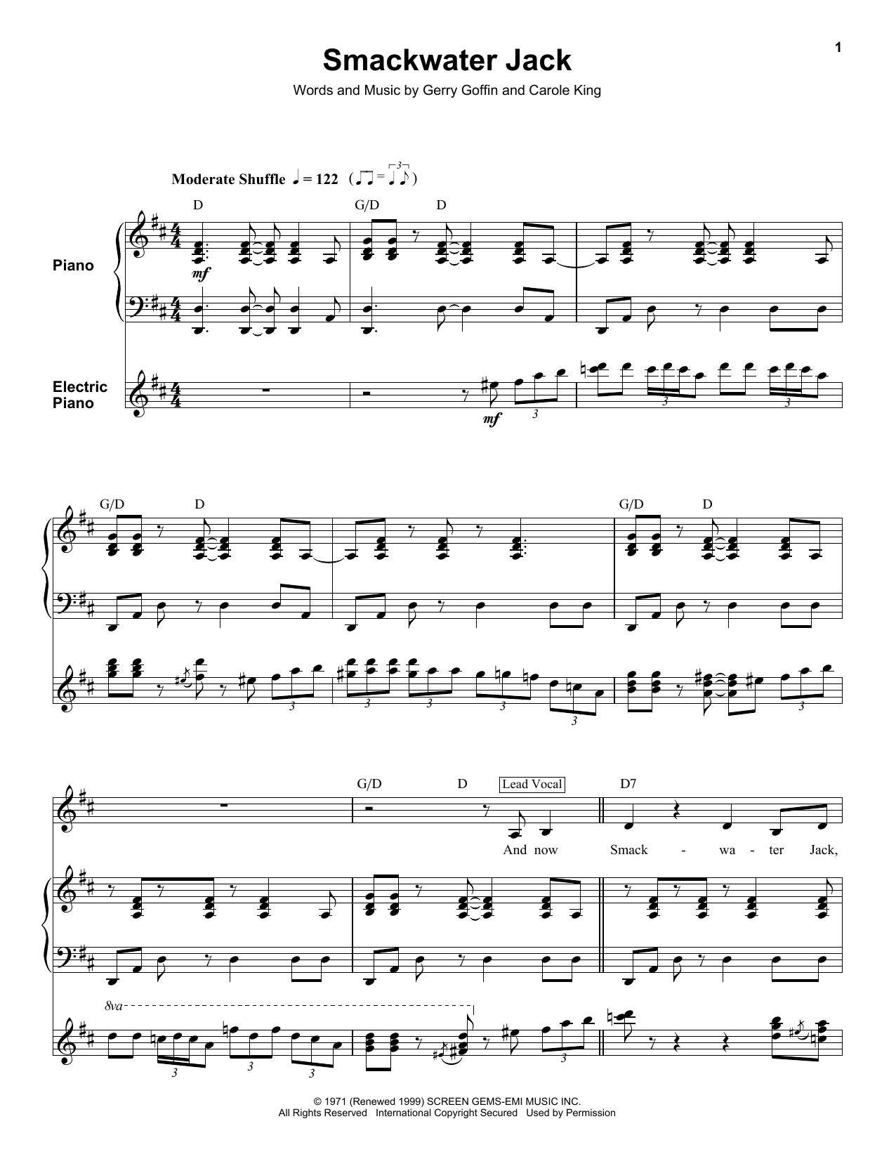Smackwater Jack Sheet Music