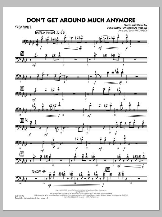 Don't Get Around Much Anymore - Trombone 1 (Jazz Ensemble)