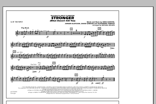 Stronger (What Doesn't Kill You) - 1st Bb Trumpet (Marching Band)