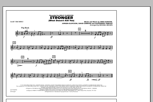 Stronger (What Doesn't Kill You) - 3rd Bb Trumpet (Marching Band)
