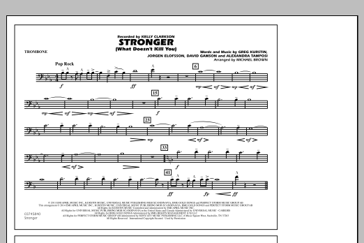 Stronger (What Doesn't Kill You) - Trombone (Marching Band)