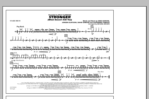Stronger (What Doesn't Kill You) - Snare Drum (Marching Band)