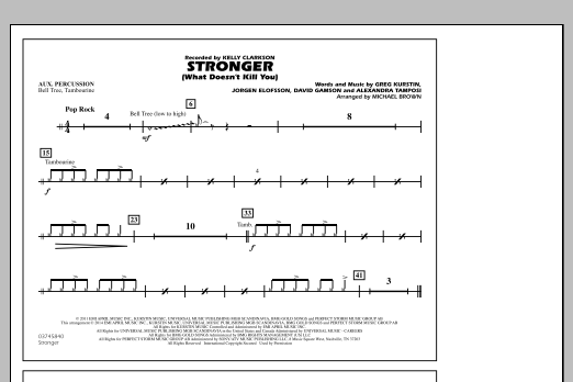 Stronger (What Doesn't Kill You) - Aux Percussion (Marching Band)