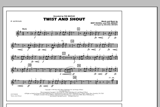 Twist and Shout - Eb Alto Sax (Marching Band)
