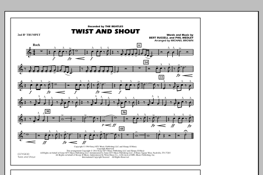 Twist and Shout - 2nd Bb Trumpet (Marching Band)