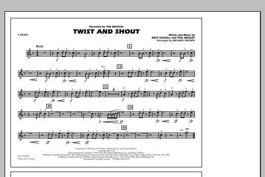 Twist and Shout - F Horn (Marching Band)