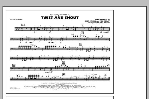 Twist and Shout - 2nd Trombone (Marching Band)