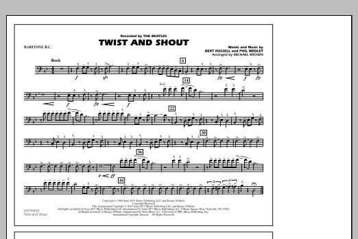 Twist and Shout - Baritone B.C. (Marching Band)