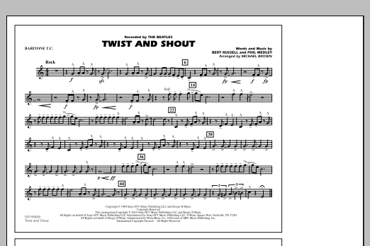 Twist and Shout - Baritone T.C. (Marching Band)