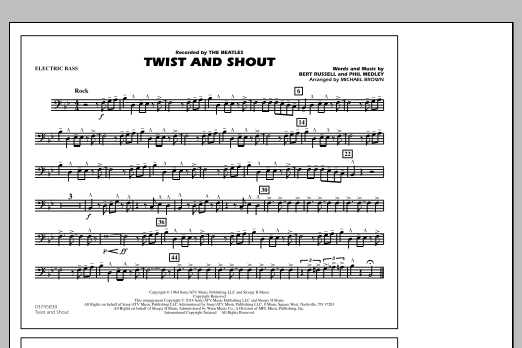 Twist and Shout - Electric Bass (Marching Band)
