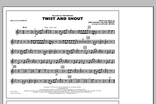 Twist and Shout - Bells/Xylophone (Marching Band)