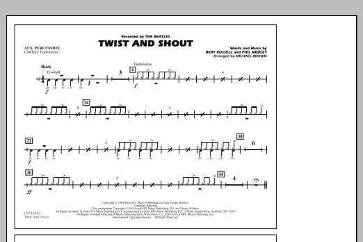 Twist and Shout - Aux Percussion (Marching Band)