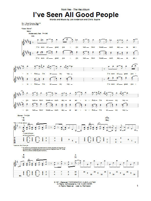 I've Seen All Good People Sheet Music