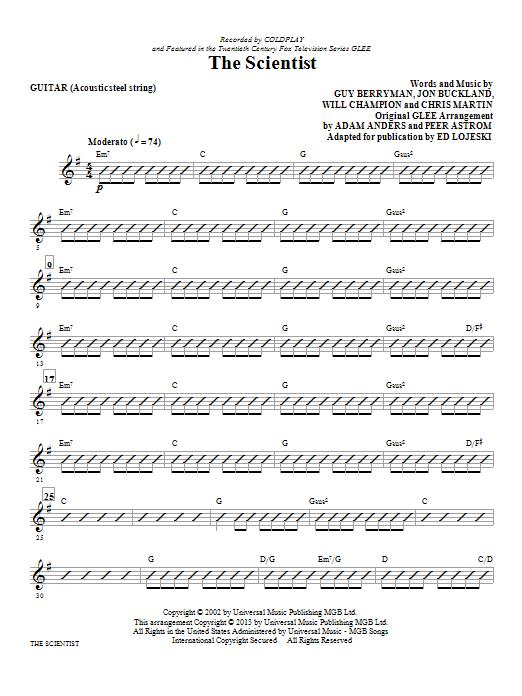 The Scientist - Guitar (Choir Instrumental Pak)