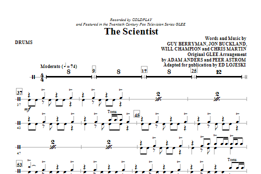 The Scientist - Drums (Choir Instrumental Pak)