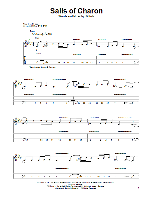 Sails Of Charon (Guitar Tab Play-Along)