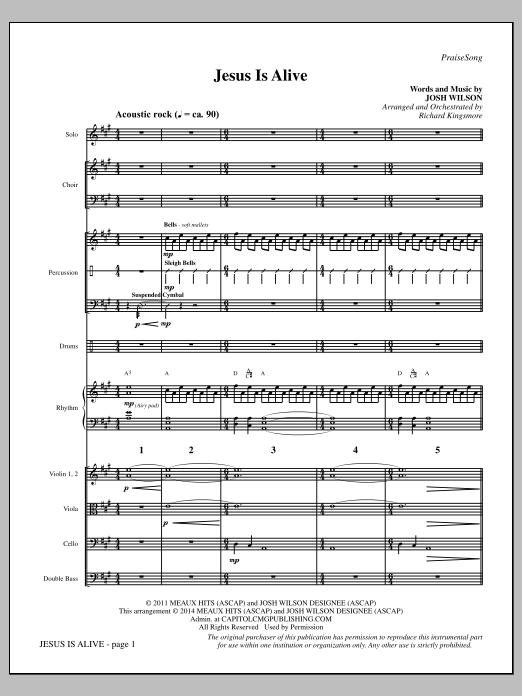 Jesus Is Alive - Full Score (Choir Instrumental Pak)