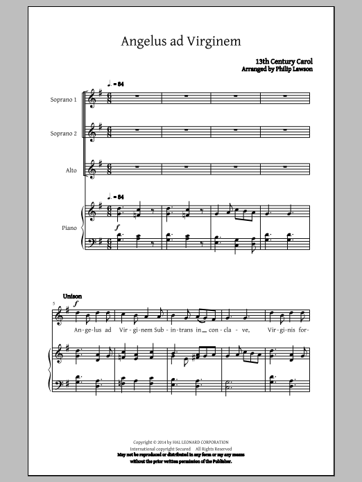 Personent Hodie (arr. Philip Lawson) Sheet Music