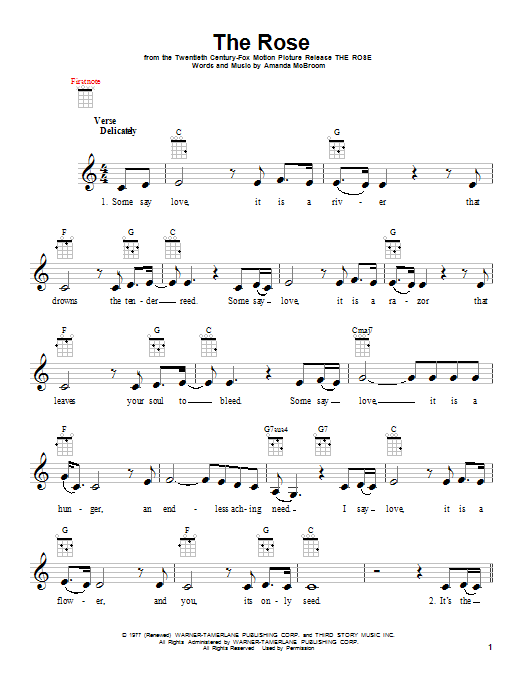 The Rose Sheet Music Direct