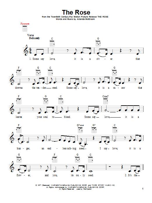 The Rose Sheet Music