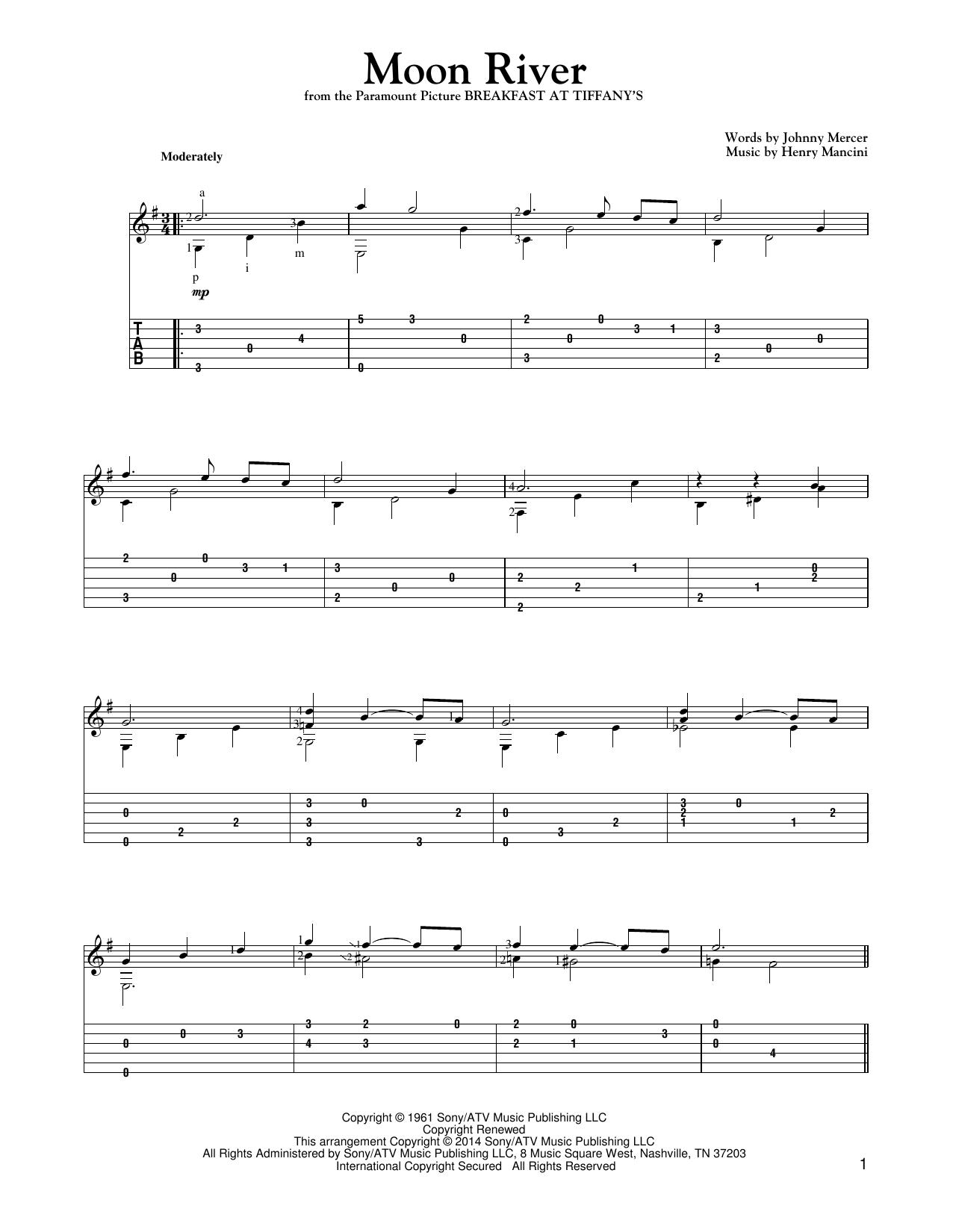 Moon River Sheet Music