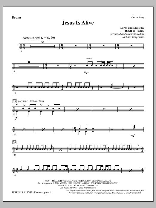 Jesus Is Alive - Drums Sheet Music