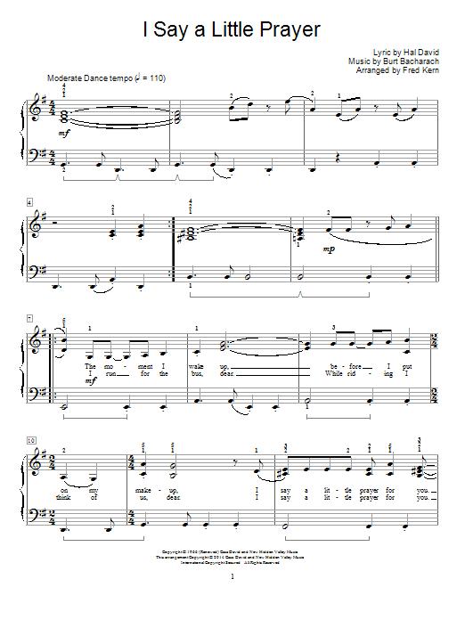 I Say A Little Prayer Sheet Music