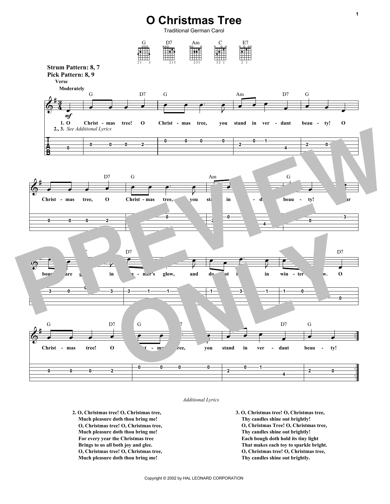 O Christmas Tree Sheet Music | Traditional German Carol | Easy ...