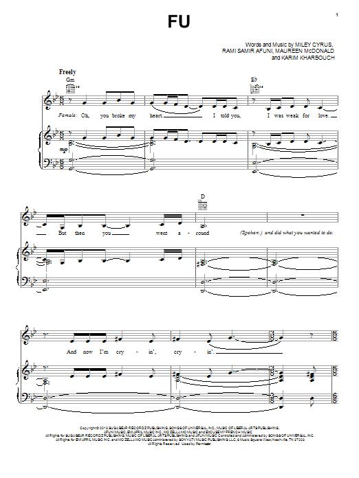 FU Sheet Music