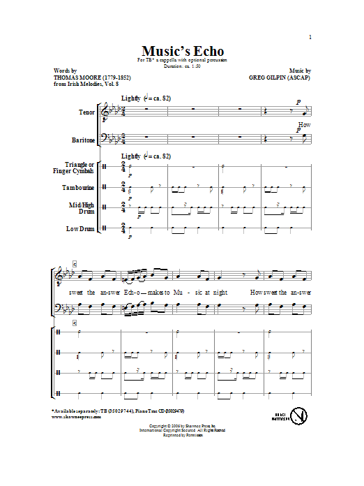 Music's Echo Sheet Music