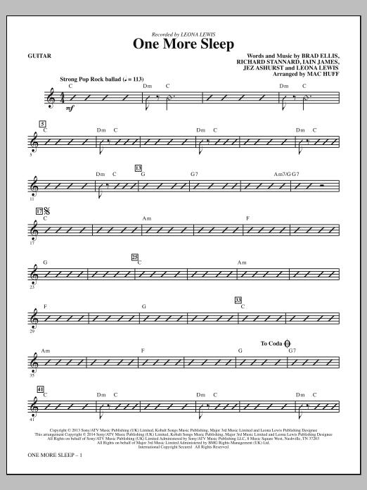 One More Sleep - Guitar Sheet Music