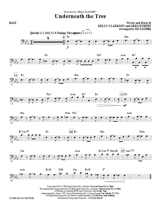 Underneath the Tree - Bass (Choir Instrumental Pak)