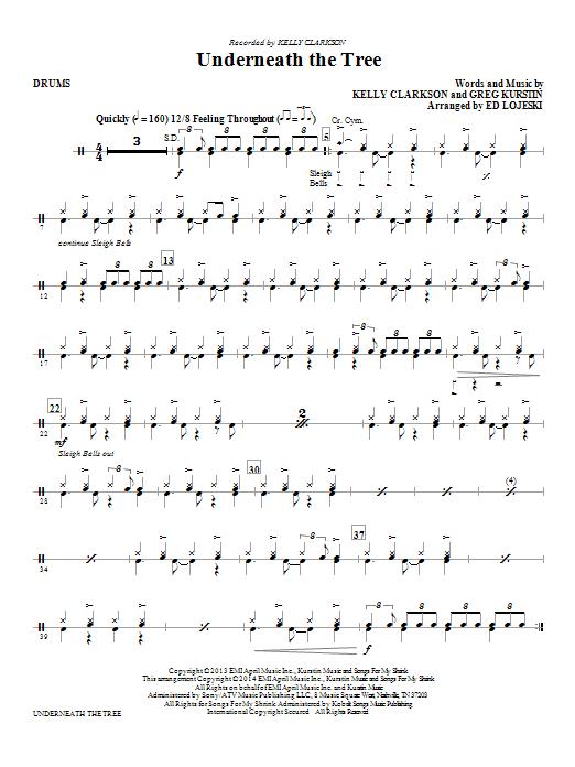 Underneath the Tree - Drums (Choir Instrumental Pak)