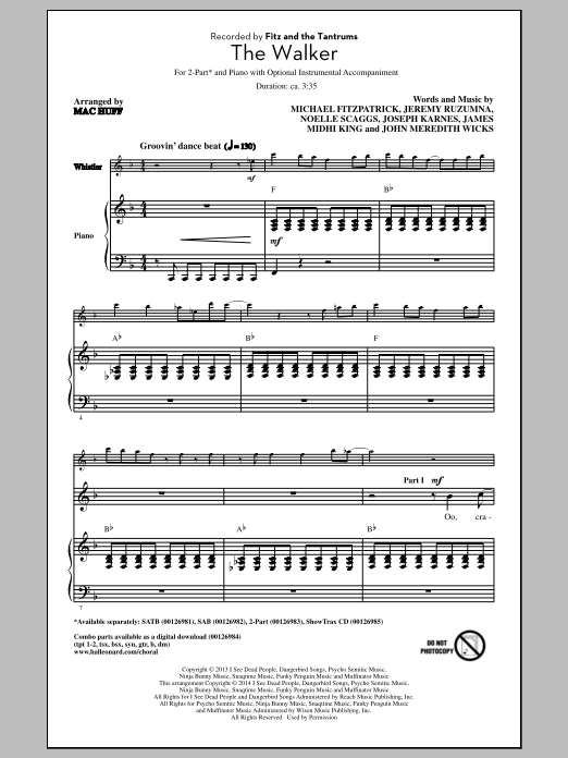 The Walker (arr. Mac Huff) Sheet Music