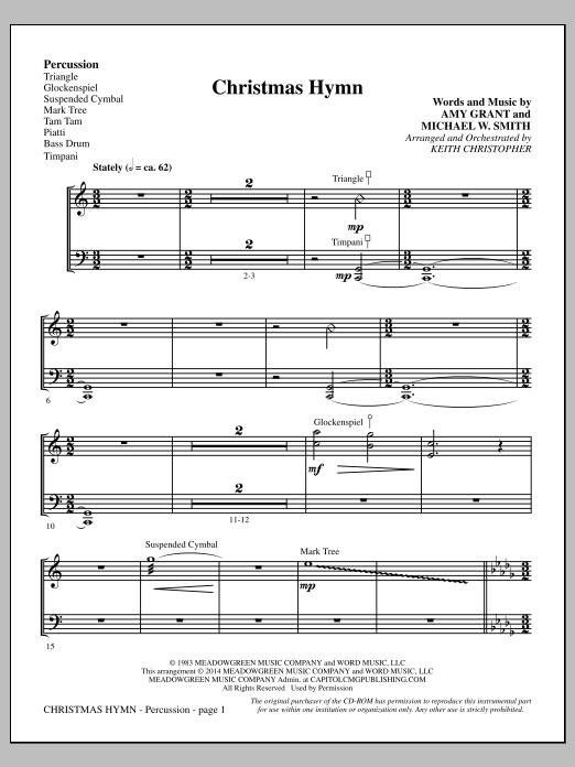 Christmas Hymn - Percussion (Choir Instrumental Pak)