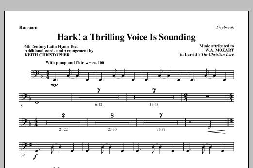 Hark! A Thrilling Voice Is Sounding - Bassoon (Choir Instrumental Pak)