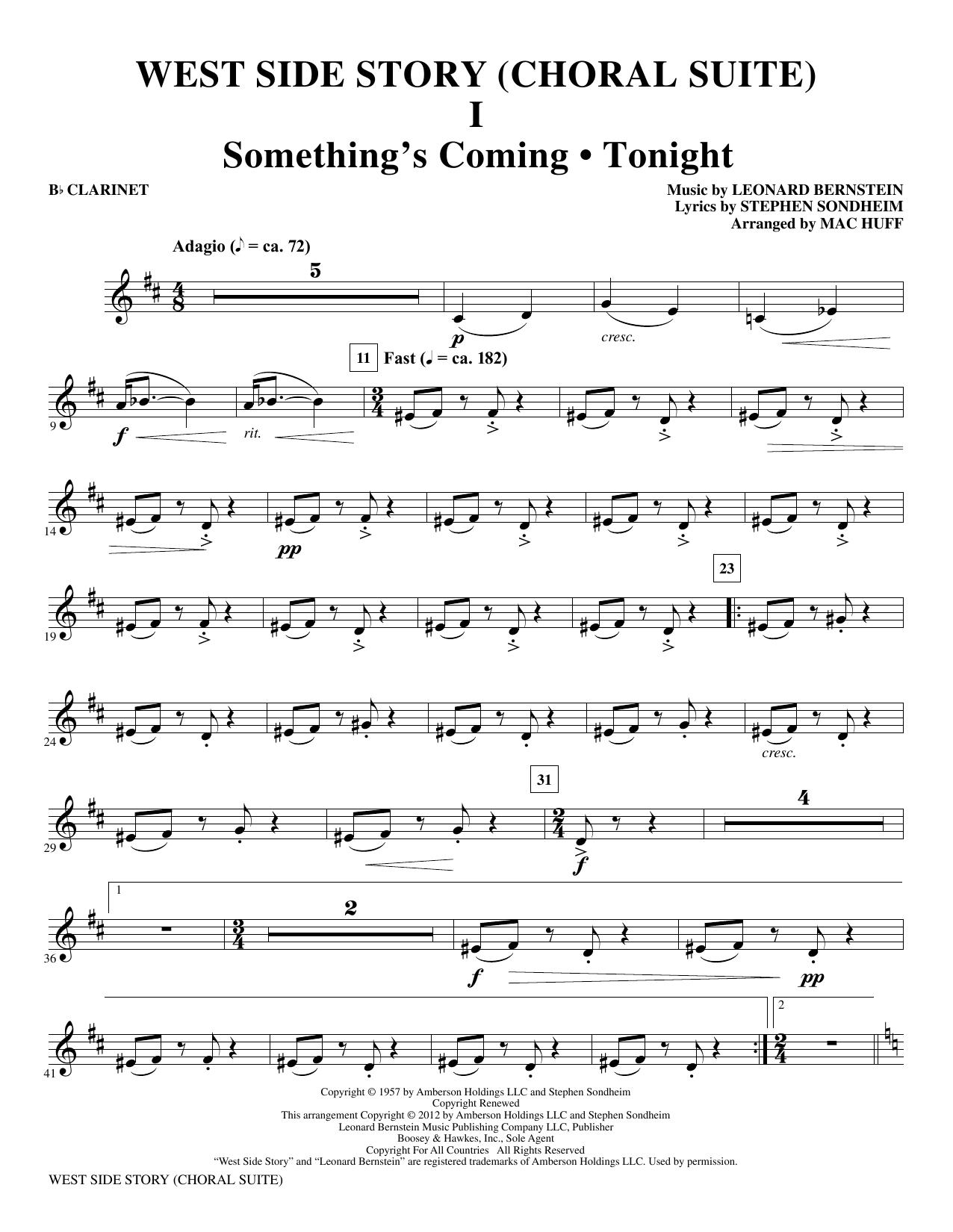 West Side Story - Clarinet (Choir Instrumental Pak)
