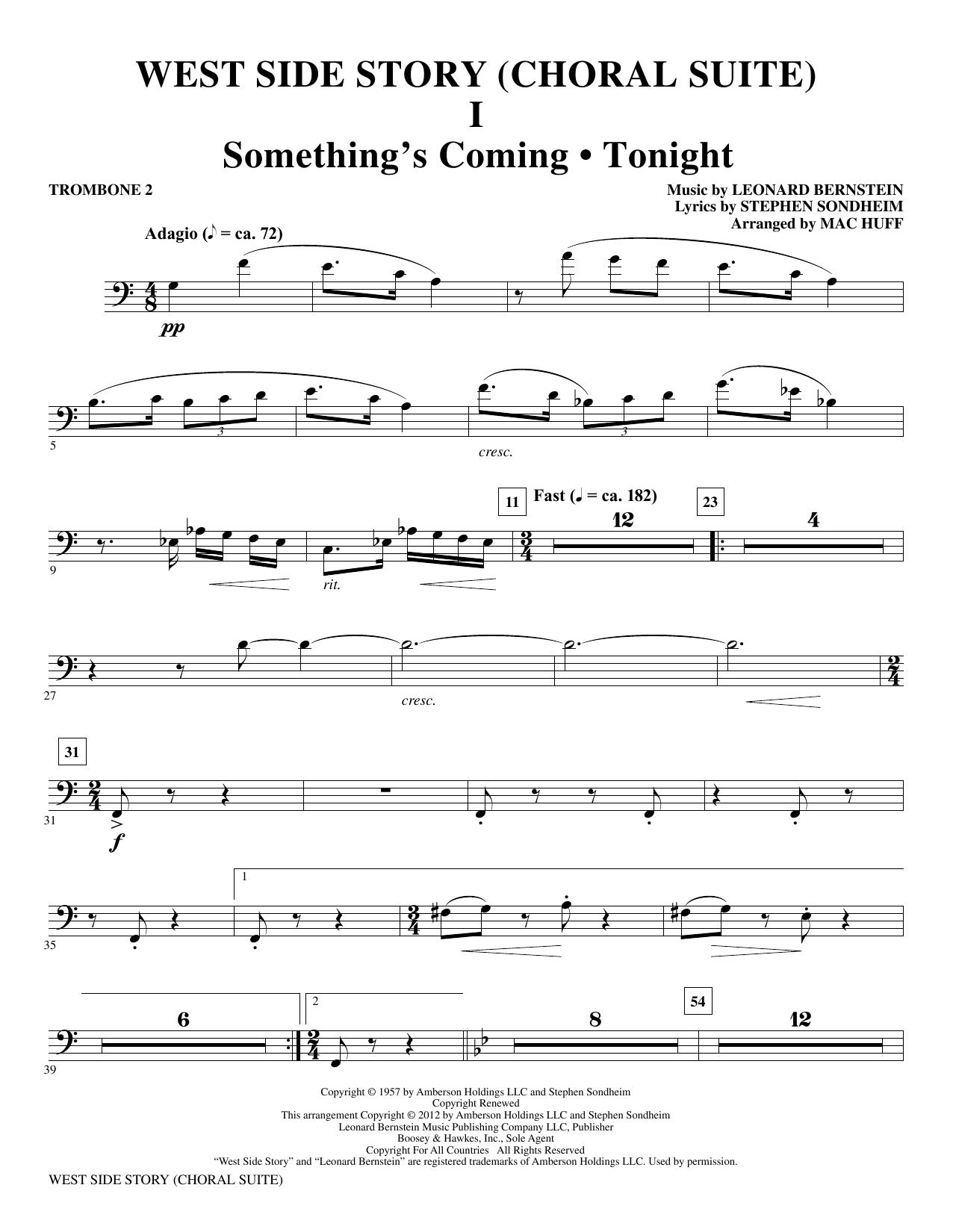 West Side Story - Trombone 2 (Choir Instrumental Pak)